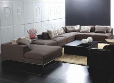 Modern Sectional Cute Contemporary Sectional Sofa - Home Design Interior Inspiration Oversized Sectional Sofa, Sectional Sofa With Recliner, Modern Sectional, Fabric Sectional, Sofa Bed, Small Sectional, Sleeper Sofa, Grey Sectional, Recliners