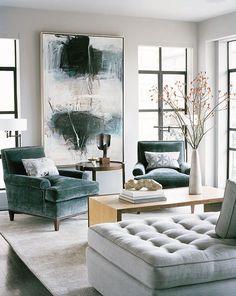 gorgeous modern living room via nob hill pied terre by leverone design - Deko Modern Living