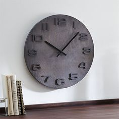 """Ryder 19.5"""" Wall Clock   Crate and Barrel"""