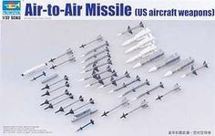 Trumpeter US Aircraft Weapons Set Air-to-Air Missiles Plastic Model Military…