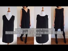 Free Sewing Pattern: Reversible V-neck and Crewneck Shift Dress - Sew in Love