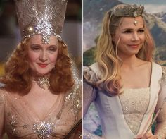 Return to Oz: See the Old and New Characters Side by Side. Glinda - Oscar nominee and Broadway star Billie Burke starred in The Wizard of Oz as Glinda, while Michelle Williams plays her in the update. There are very few differences to the look — Williams's good witch has lighter hair and a less ostentatious tiara, but the wand and sparkles are all intact.