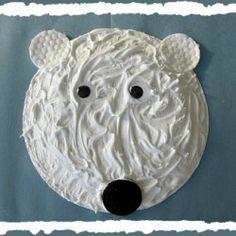 puffy paint polar bear face