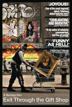 Banksy is a graffiti artist with a global reputation whose work can be seen on walls from post-hurricane New Orleans to the separation barrier on the Palestinian West Bank. He fiercely guards his anonymity to avoid prosecution. An eccentric French shop keeper turned documentary maker attempts to locate and befriend Banksy, only to have the artist turn the camera back on its owner. Includes footage of Banksy, Shepard Fairey, Invader and many of the world's most infamous graffiti artists at…