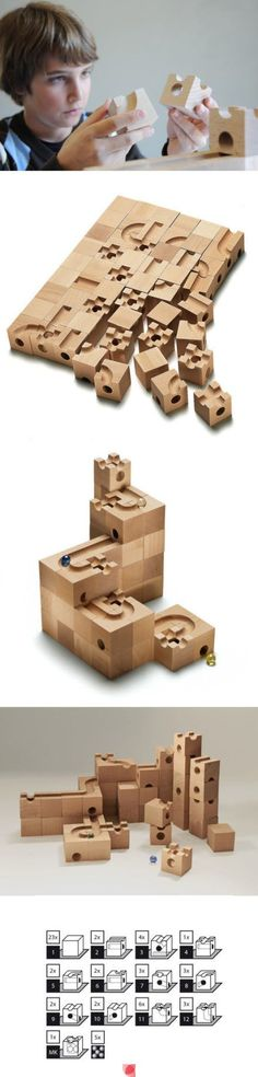 Cuboro Standard 54-cube Starter Set for the award-winning wooden marble run. All fundamental elements necessary for the construction of a track system are contained in the starter sets. The various elements can be combined to countless track systems.