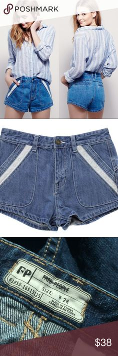 New! Free People Sweet Surrender Eyelet Shorts 28 New! Fun and feminine Free People denim shorts with a high rise and eyelet inset detailing. Perfect for summer - concerts, festivals, fairs, and everything in between. Quick shipping! Label has been marked to prevent fraudulent returns. Free People Shorts Jean Shorts