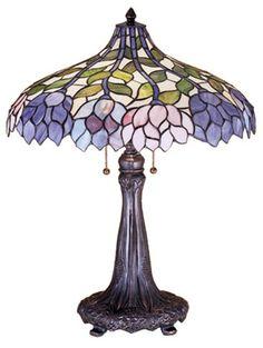 Meyda Lighting 26H Wisteria Tiffany Table Lamp