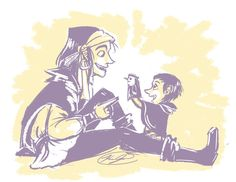 Clopin and his uncle, courtesy of kay Double o on Deviantart