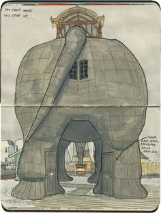 Maintaining a structure like Lucy the Elephant is probably a real pane in the rear end, though.