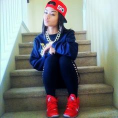 long sleeve and red high tops, with red hat New Hip Hop Beats Uploaded EVERY SINGLE DAY  http://www.kidDyno.com