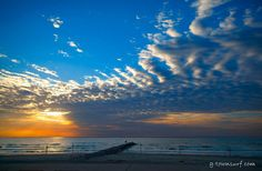 A peek at the colors of the sky from this morning on Galveston Island.