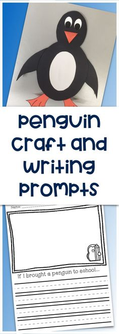 Penguin Craft and Writing Prompts. Perfect winter activity for K-2!