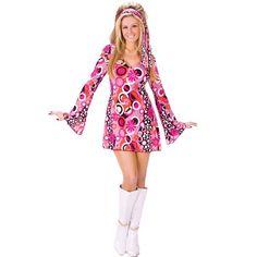 NWT Rubie/'s Halloween Sensations Hippie Chick Girls/' Costume Size Small 4-6