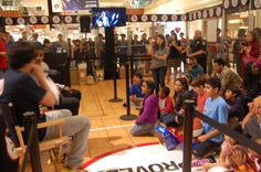 """A """"Kiddie Court"""" and pop-a-shot hoops were set up to give younger children a chance to win too, while practicing their shooting skills. #footlocker"""