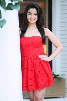 Alia Bhatt In A Small Red Dress