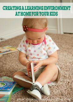 Stripes and Polka Dots: Creating a Learning Environment at Home for your Kids