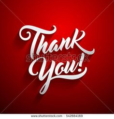 Thank you beautiful lettering text vector illustration. Thank You! greeting card for presentation slide.