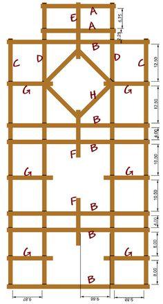 like the trellis design - Modern Porch Trellis, Wood Trellis, Diy Trellis, Garden Trellis, Garden Beds, Trellis Ideas, Trellis Design, Metal Pergola, Cheap Pergola