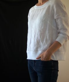 The Fielder Top sewing pattern by Merchant and Mills.  Available at Miss Maude Sewing