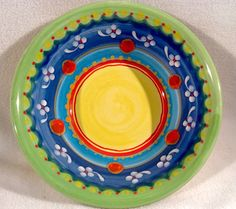 Festin Coquin Creation 9.75 in Bowl Hand Painted Provencal Dinnerware Decorative #FestinCoquinCreation #Handpainted
