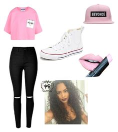 Be the queen bee by diazmermaid on Polyvore featuring polyvore fashion style Moschino Converse Fiebiger clothing