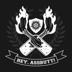 Awesome 'Hey, Assbutt!' t-shirt design on TeePublic! #Supernatural #SPN #Castiel #tee #shirt