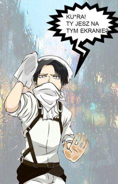 Śmieszkujemy z Anime ^^ - SnK Anime Meme, Manga Anime, Polish Memes, Hotarubi No Mori, Dark Sense Of Humor, Naruto, Anime Japan, Pretty Photos, Attack On Titan Anime
