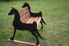 Steel Horse Bench Iron Furniture, Street Furniture, Furniture Design, Furniture Ideas, Metal Projects, Welding Projects, Woodworking Projects, Iron Decor, Garden Chairs