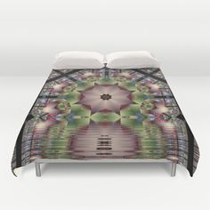 Reflecting the Unknown, fractal abstract pattern design Duvet Cover