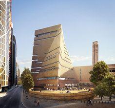 New Tate Modern by Herzog & de Meuron in London, United Kingdom