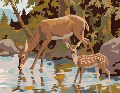 This Deer illustration is a unique illustration by CSA Images. View our online stock illustration collection! Hirsch Illustration, Deer Illustration, Illustrations, Paint By Number Vintage, Number Art, Wall Murals, Wall Art, Deer Art, Pop Art Posters