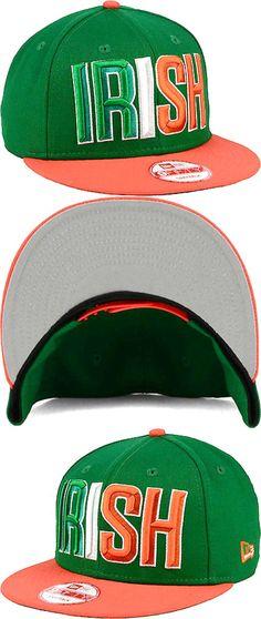 New Era Irish Pride St Patricks Day Ireland Flag Team 950 Snapback Cap Hat-Green $18.0