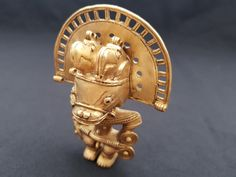 Tumbaga gold precolumbian tairona shaman Old Things, Gold, Inspiration, Jewelry, Make Art, Culture, Men, Biblical Inspiration, Jewlery