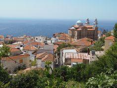Marathokampos Samos, Greek Recipes, Paris Skyline, Islands, Greece, Mansions, House Styles, Places, Travel