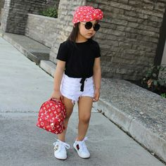 Cute Baby Girl Outfits, Kids Outfits Girls, Cute Outfits For Kids, Toddler Girl Outfits, Cute Baby Clothes, Cute Kids Fashion, Little Girl Fashion, Toddler Fashion, Toddler Girl Style