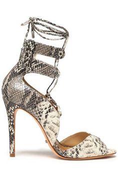 5d23507b8b8 SCHUTZ Lace-up python pumps Leather Sandals