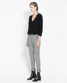 Houndstooth Trousers - Zara