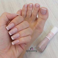 Simple Toe Nails, Cute Toe Nails, Pretty Nails, Toe Nail Designs, Acrylic Nail Designs, Toe Nail Color, Nail Colors, Pink Nails, My Nails