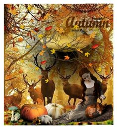 """Beautiful Autumn"" by jojona-1 ❤ liked on Polyvore featuring art"