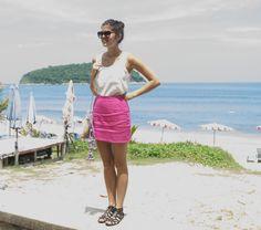 Pink Colour-Block Skirt « a pair & a spare