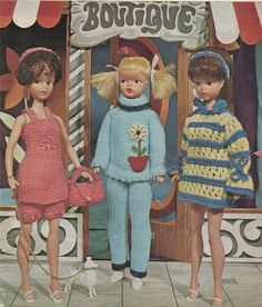 PDF Dolls Clothes Knitting Pattern : Sindy . by PDFKnittingCrochet