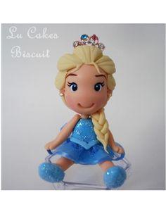 Lembrancinha Elsa Frozen biscuit coroa