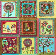 Love Fabric Panel by pcartercarpin on Etsy
