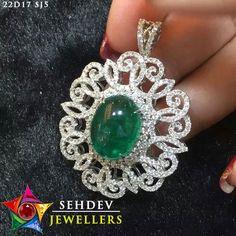 Beautiful #emerald  studded #pendant  at https://sehdevjewellers.com/emerald.html