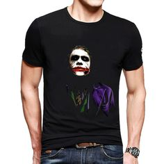 [Free Shipping] Heath Ledger Batman 2 The Dark Knight Rises T Shirt