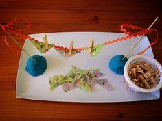 "Cute alphabet bunting idea from Sensory Learning 4 Life ("",) Name Activities, Montessori Activities, Motor Activities, Educational Activities, Alphabet Phonics, Cute Alphabet, Preschool Kindergarten, Preschool Learning, Teaching"