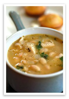 White Bean Chicken Chili--Great Northern Beans are used in this White Bean Chicken Chili recipe, but you could substitute cannellini or navy beans. As you'll see, the recipe is quite flexible.