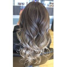 Image result for ash blonde balayage highlights on dark hair