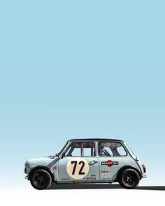 Classic Cars Poster Mini Coopers Ideas For 2019 Mini Cooper Classic, Classic Mini, Mini Cooper S, Retro Cars, Vintage Cars, Mini Morris, Automobile, Mini 14, Classic Race Cars
