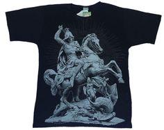 Camiseta São Jorge - Manga Curta - Tamanho M